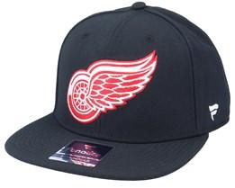 Detroit Red Wings Primary Logo Core Black Snapback - Fanatics