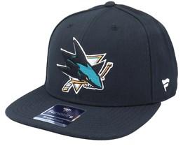 San Jose Sharks Primary Logo Core Black Snapback - Fanatics