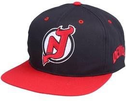 New Jersey Devils Base Two Tone NHL Vintage Black/Red Snapback - Twins Enterprise
