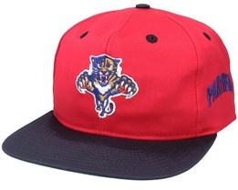 Florida Panthers Base Two Tone NHL Vintage Red/Navy Snapback - Twins Enterprise