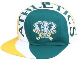 Oakland Athletics Vortex MLB Vintage Green/Yellow Snapback - Twins Enterprise