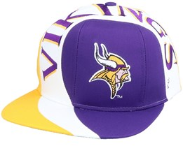 Minnesota Vikings Vortex NFL Vintage Purple/Yellow Snapback - Twins Enterprise