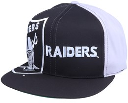 Las Vegas Raiders Big Logo NFL Vintage Black/Grey Snapback - Twins Enterprise