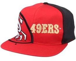 San Francisco 49ers Big Logo NFL Vintage Red/Black Snapback - Twins Enterprise
