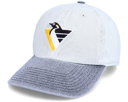 Pittsburgh Penguins Old School NHL Vintage Grey/Black Dad Cap - Twins Enterprise