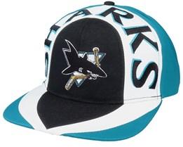 San Jose Sharks Allover2 NHL Vintage Snapback - Twins Enterprise