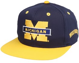 Michigan Wolverines Base Two Tone College Vintage Navy/Yellow Snapback - Twins Enterprise