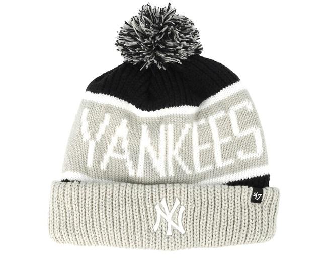 03f7bf57b New York Yankees Calgarey Grey/Black Pom - 47 Brand beanies ...
