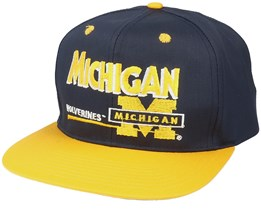 Michigan Wolverines Classic College Vintage Black/Yellow Snapback - Twins Enterprise