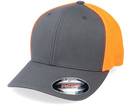 Trucker Mesh Charcoal/Neon Orange Flexfit - Flexfit