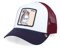 Bonkers White/Bordeaux/Navy Trucker - Goorin Bros.