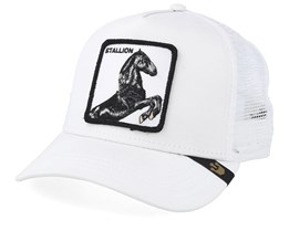 Stallion White/White Trucker - Goorin Bros.