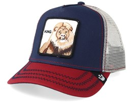 Big Rock Navy/Red/Beige Trucker - Goorin Bros.