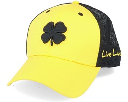 Premium Clover 94 Yellow/Black Mesh Trucker Flexfit - Black Clover