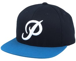 Classic P Black/Harbor Blue Snapback - Primitive Apparel