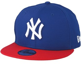 Kids NY Yankees MLB Cotton Light Royal/Scarlet 9Fifty - New Era