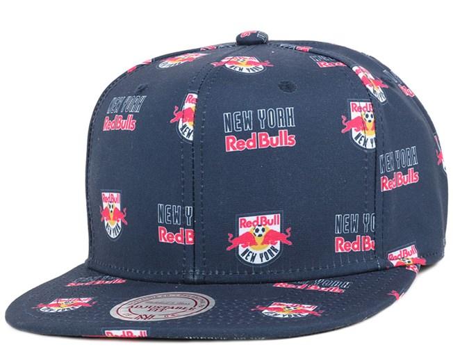 4923c07db115a NY Red Bulls Mono Logo Navy Snapback - Mitchell   Ness caps ...