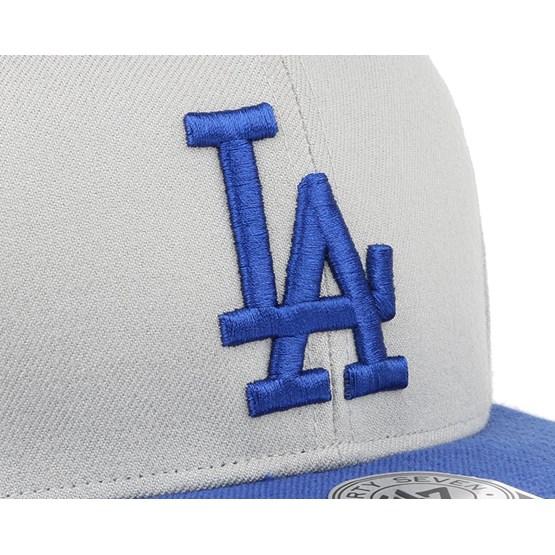 LA Dodgers Sure Shot 2 Tone Grey Blue Snapback - 47 Brand caps -  Hatstoreworld.com bd210f7206fb