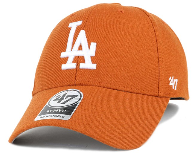LA Dodgers Mvp Burnt Orange Adjustable - 47 Brand caps  f50179041ebd