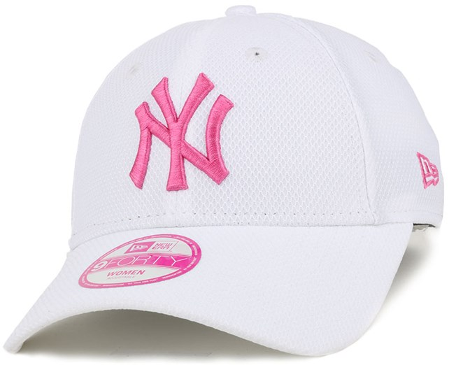 NY Yankees De Trainer Woman White Pink 940 Adjustable - New Era caps ... 2377d5ad994