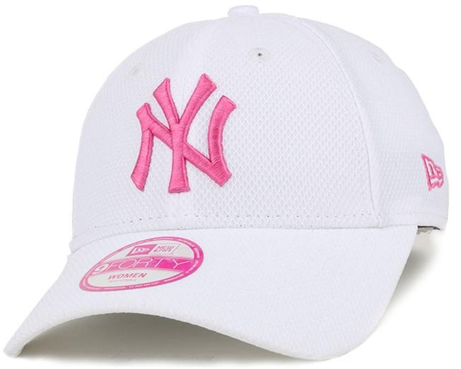 NY Yankees De Trainer Woman White Pink 940 Adjustable - New Era caps ... 843a57bce3c