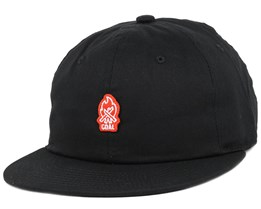The Junior Black Snapback - Coal