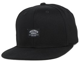 Core Label Black Snapback - Pelle Pelle