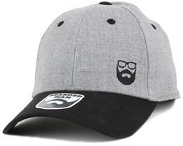 Side Logo Grey/Black Flexfit - Bearded Man