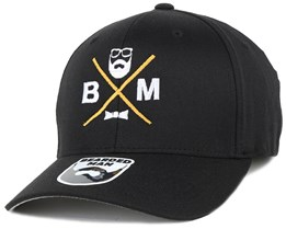 BM Cross Black Flexfit - Bearded Man