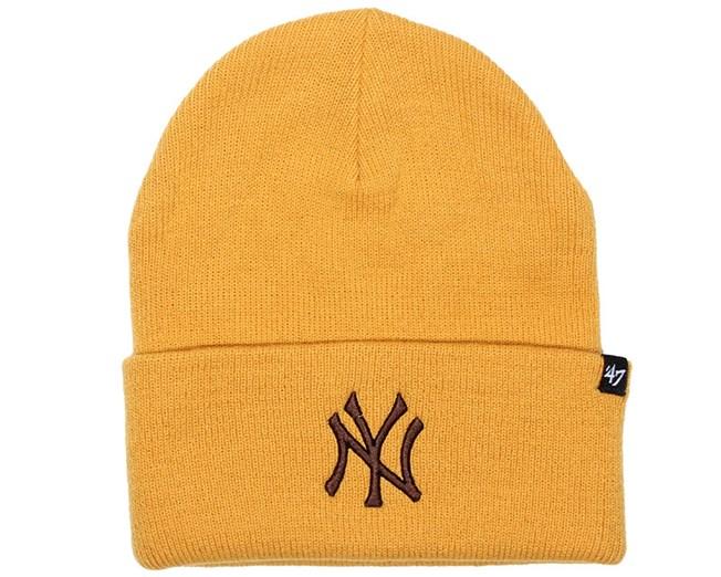 e9d145e6bc2 NY Yankees Haymakers Brown Beanie - 47 Brand beanies - Hatstoreworld.com