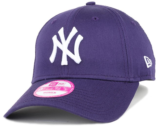 7be1bb60 NY Yankees League Essential Purple Woman 940 Adjustable - New Era ...
