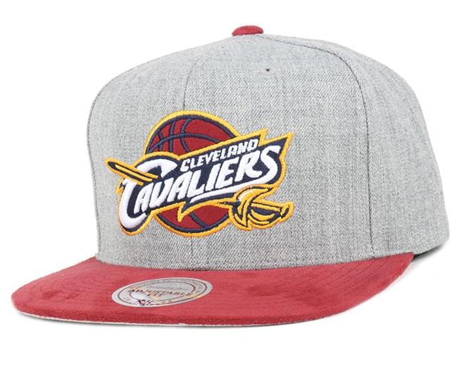 f0eb83398a3 Cleveland Cavaliers Heather Micro Snapback - Mitchell   Ness caps ...