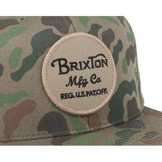 20b8aa22f7cb5d Wheeler Camo Snapback - Brixton caps   Hatstore.co.uk