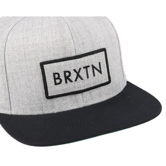 22998e23d01 Rift Light Heather Grey Black Snapback - Brixton caps