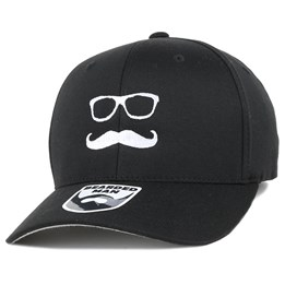 save off d1e5e 4db5a Bearded Man Mr. Mustache Black Flexfit - Bearded Man £19.99. New Era basic  Gray 39Thirty ...