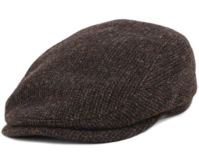 b4d9867574acf6 Driver Cap Wool Brown Flat Cap - Stetson caps | Hatstore.co.uk