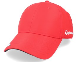 18 Perf Front Hit Struct Mens Red Adjustable - Taylor Made