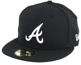 Atlanta Braves MLB Basic Black/White 59fifty - New Era