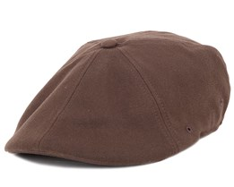 Wool 504 Brown Flexfit Flat Cap - Kangol