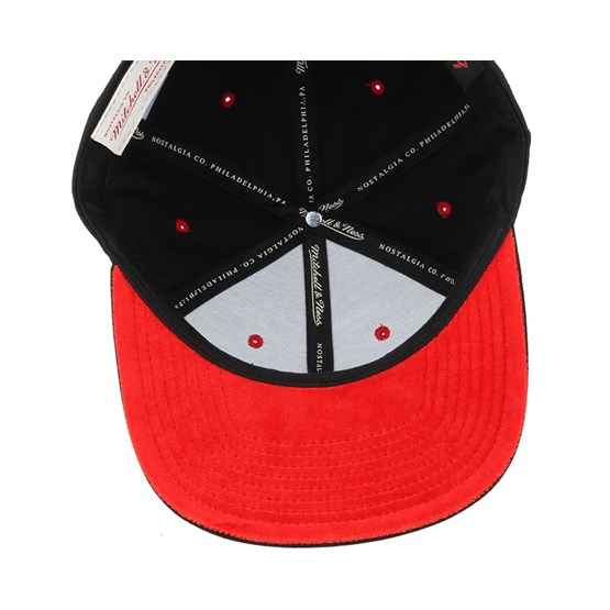 ffda0917063 Houston Rockets Solid Velour Logo Snapback - Mitchell   Ness caps ...