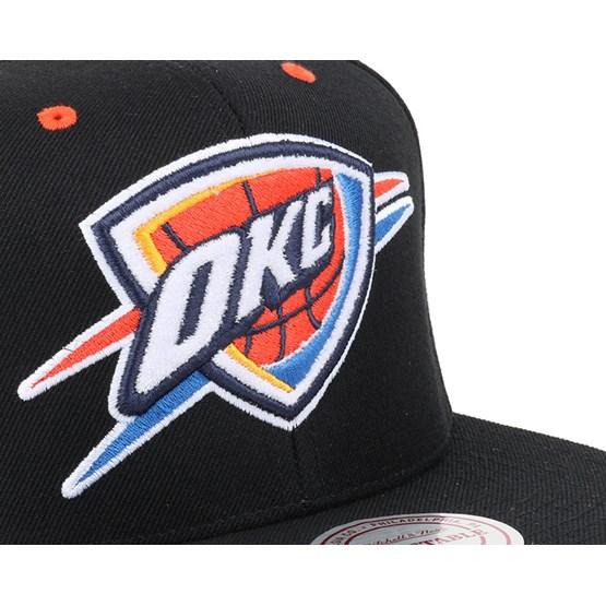 online store 0d3d4 8595e Oklahoma City Thunder Solid Velour Logo Snapback - Mitchell   Ness caps -  Hatstoreworld.com
