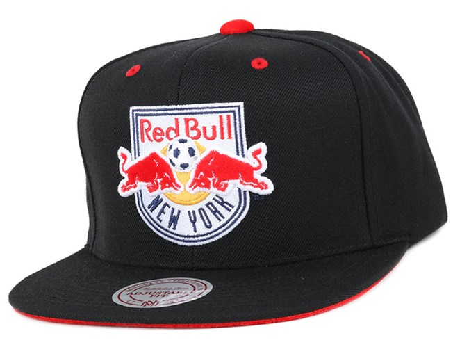sports shoes a1c84 97adc NY Red Bulls Solid Velour Logo Snapback - Mitchell   Ness