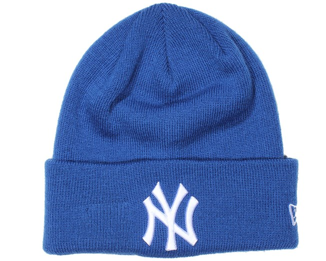 8c094761e8380 NY Yankees Essential Blue Beanie - New Era beanies - Hatstoreworld.com