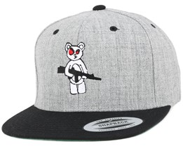 Armed Bear Grey/Black Snapback - GUNS n SKULLS