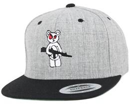 Armed Bear Grey/Black Snapback - GUNS n SKULLS