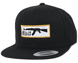 Box-AK47 Black Snapback - GUNS n SKULLS