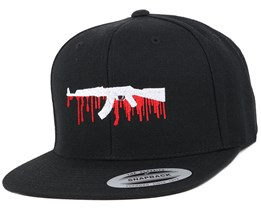 Bloody AK47 Black Snapback - GUNS n SKULLS