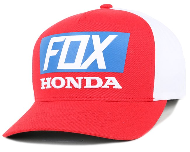 Honda Standard Red White Adjustable - Fox Kšiltovka - Hatstore.cz c480a9d1e4