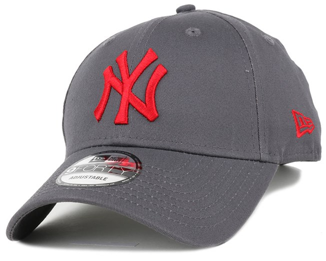 636a749c7950 NY Yankees League Essential Graphite/Scarlet 940 Adjustable - New ...