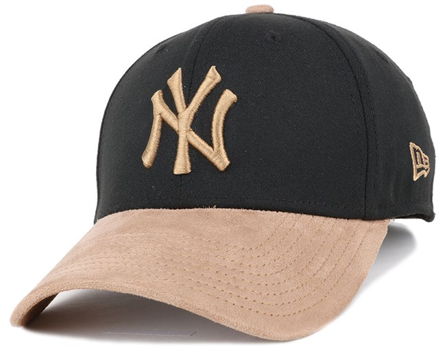 23c1dc81bc3c39 NY Yankees Poly Suede Mix Black/Wheat 39Thirty Flexfit - New Era ...